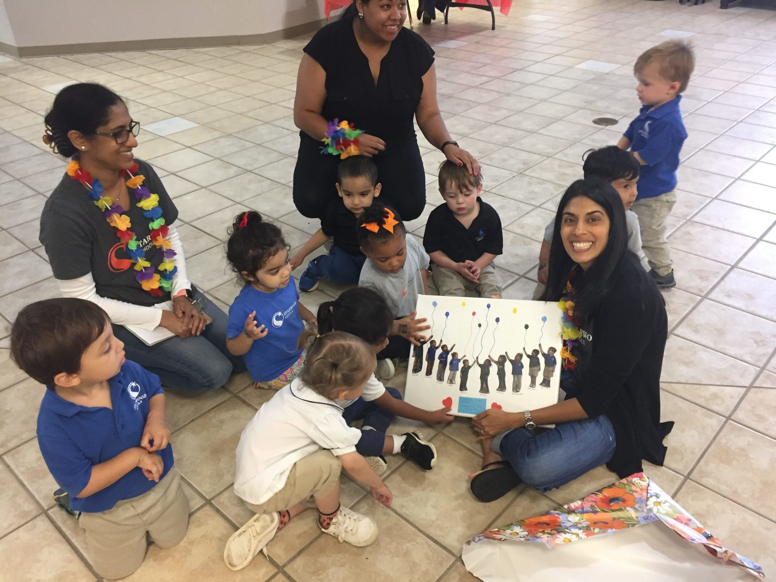 Ms. Hanks with Toddler Students