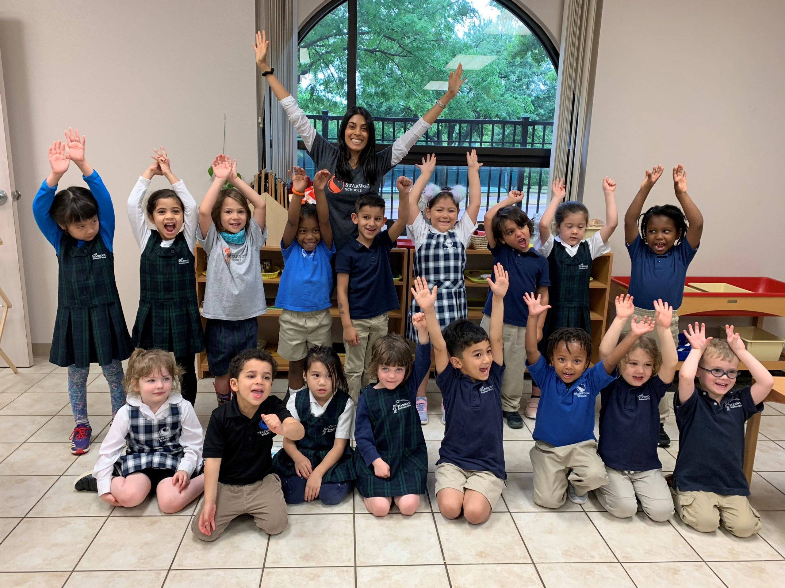 Ms. Hanks with Primary Students