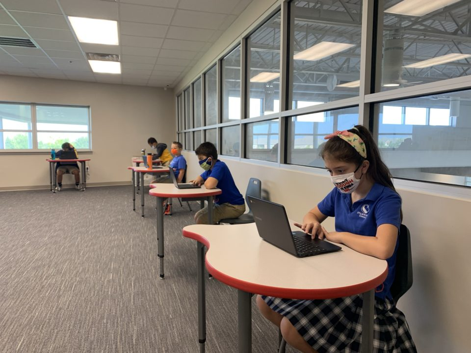 Students Taking MAP Test
